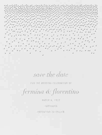 Jubilee I (Save the Date) - Platinum - Kelly Wearstler - Save the date