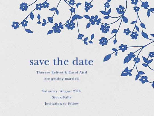 Floral Trellis I (Save the Date) - Regent Blue  - Oscar de la Renta - Save the date