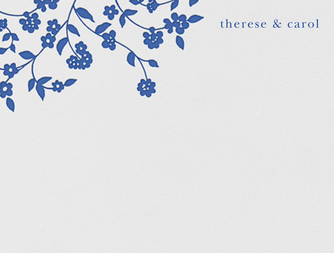Floral Trellis I (Stationery) - Regent Blue - Oscar de la Renta