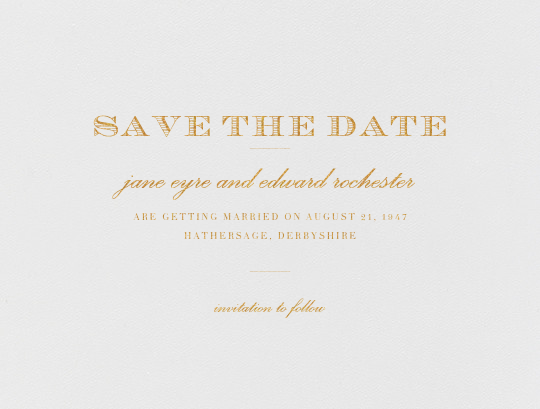 Marchmain (Save the Date) - Gold - Paperless Post - Save the date