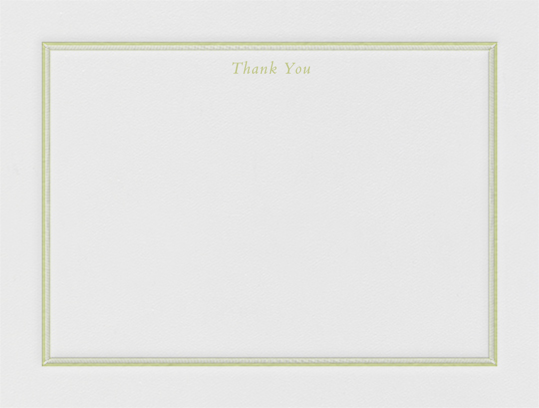 Saranac (Thank You) - Celery - Crane & Co. - Sympathy