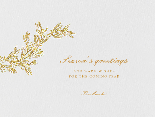 Winter Sprig I - Gold - Paperless Post - Holiday cards