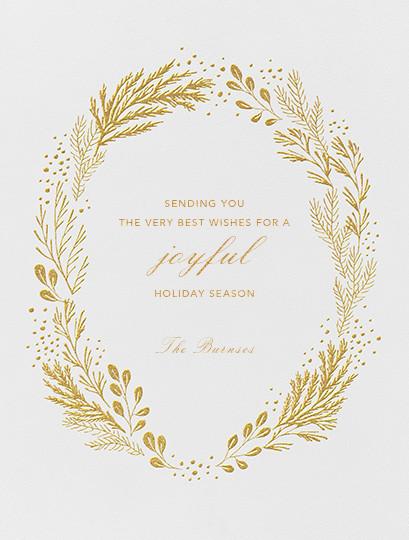 Winter Garden I (Card) - Gold - Paperless Post