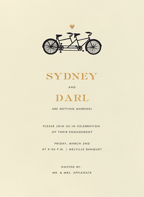 Tandem I (Invitation) - kate spade new york - Engagement party