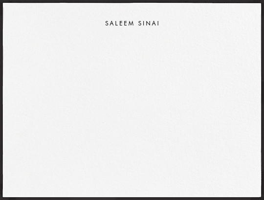 Painted Border - Black - Paperless Post - Personalized stationery