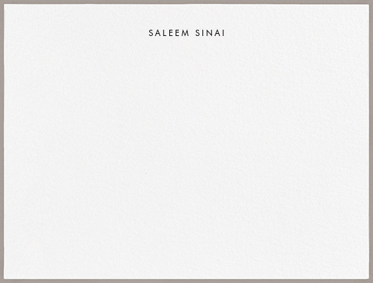 Painted Border - Taupe - Paperless Post - Personalized stationery