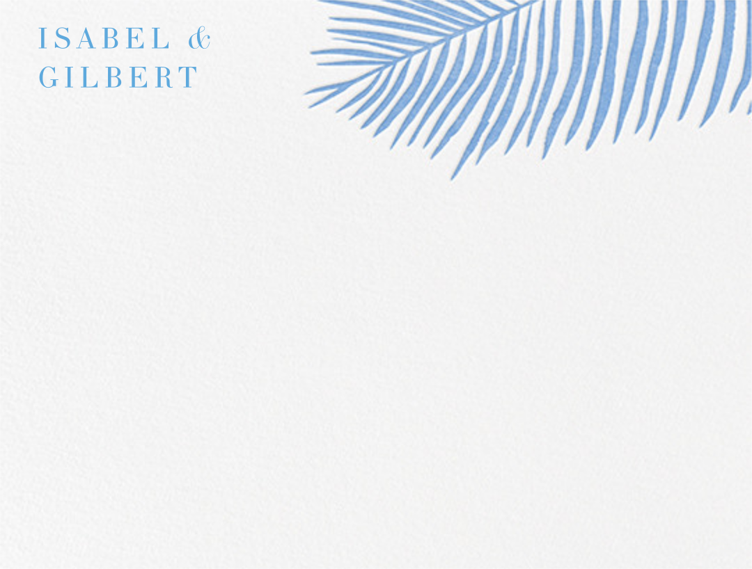 Palmier I (Stationery) - Newport Blue  - Paperless Post - null