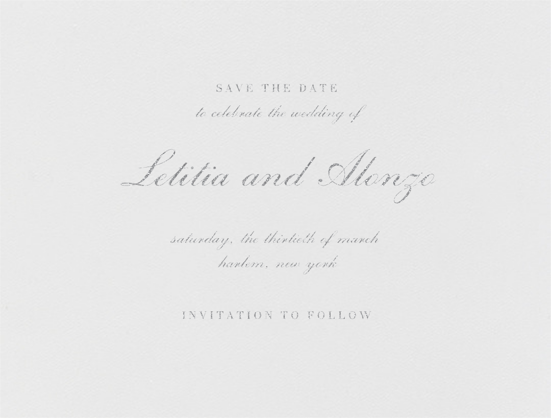English (Save the Date) - Platinum - Vera Wang - Save the date