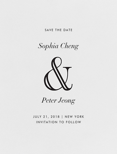 Strake (Save the Date) - Black - Vera Wang - null