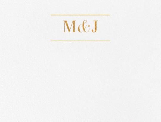 Monogram (Stationery) - Gold - Vera Wang - Personalized stationery