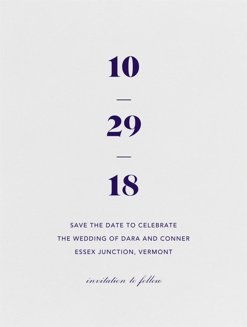 Mast (Save the Date) - Amethyst  - Vera Wang - Vera Wang