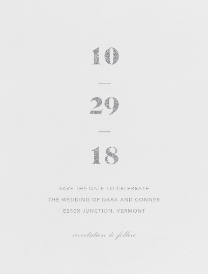 Mast (Save the Date) - Platinum - Vera Wang - Save the date