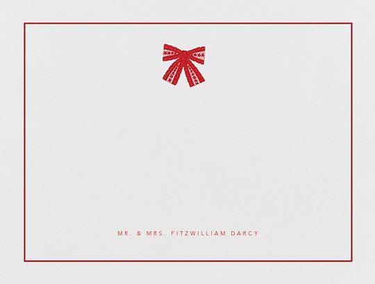 Tie the Knot (Stationery) - Red - Oscar de la Renta - Personalized stationery