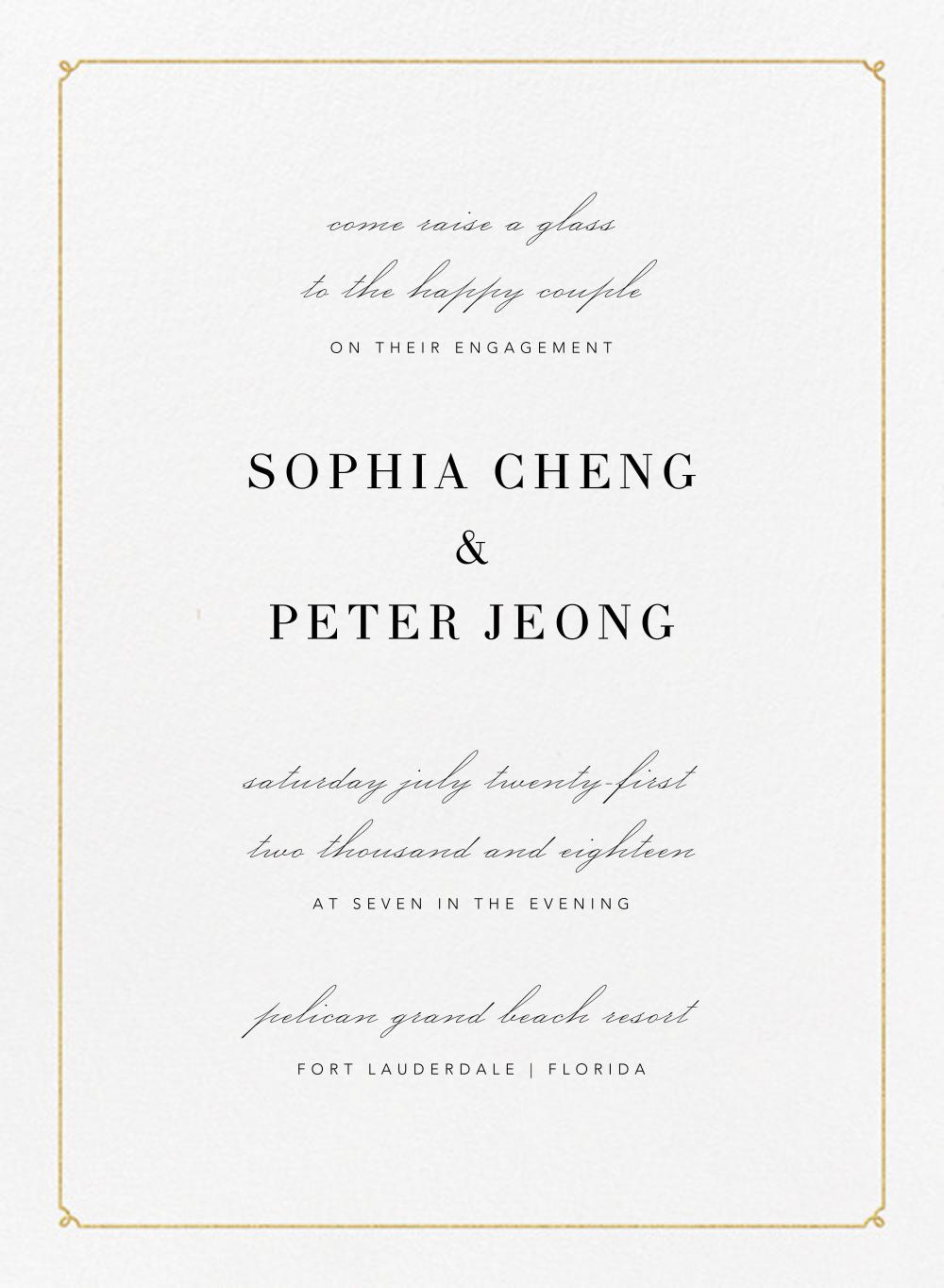 Ledger - Gold - Vera Wang - Engagement party