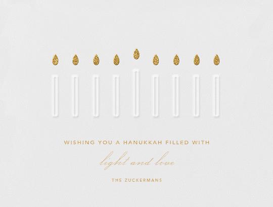 Hanukiah - Paperless Post - Hanukkah