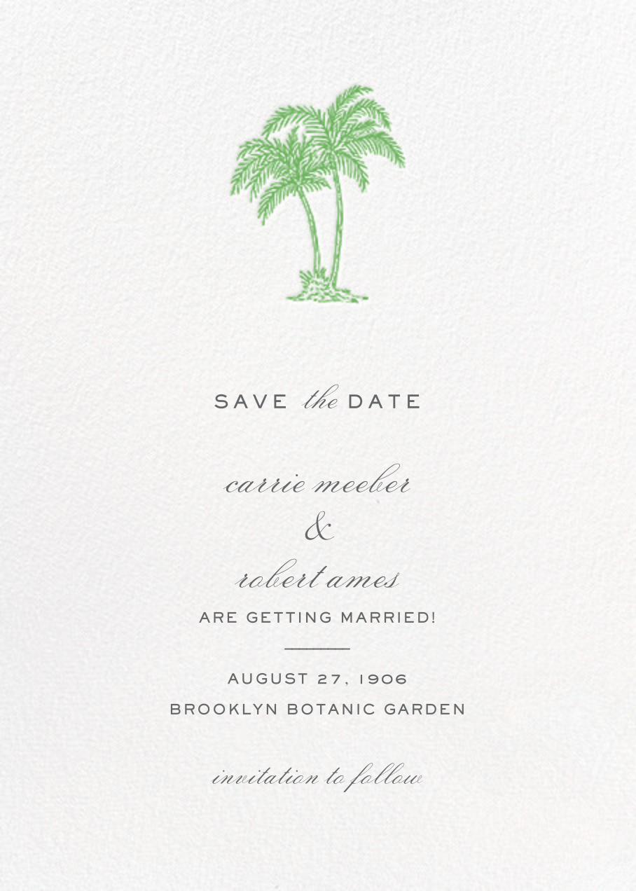 Mascarene (Save the Date) - Green - Crane & Co. - Save the date