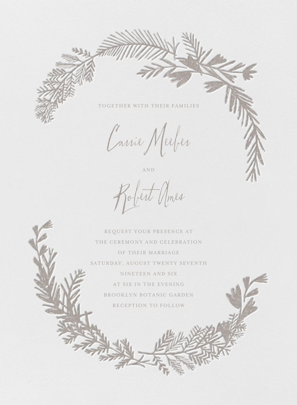 Miss Mimi Margeaux I (Invitation) - Taupe - Mr. Boddington's Studio - All