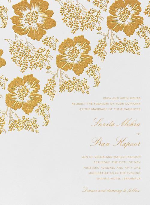 Falling Poppies I (Invitation) - Oscar de la Renta - All