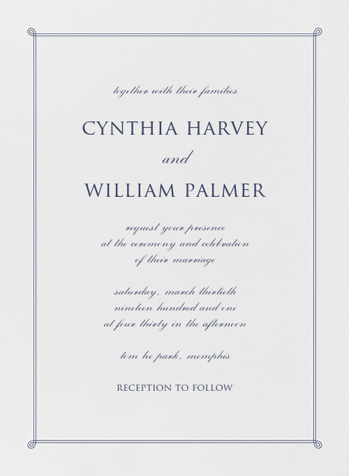 Double Loop Frame I (Invitation) - Navy  - Paperless Post - All