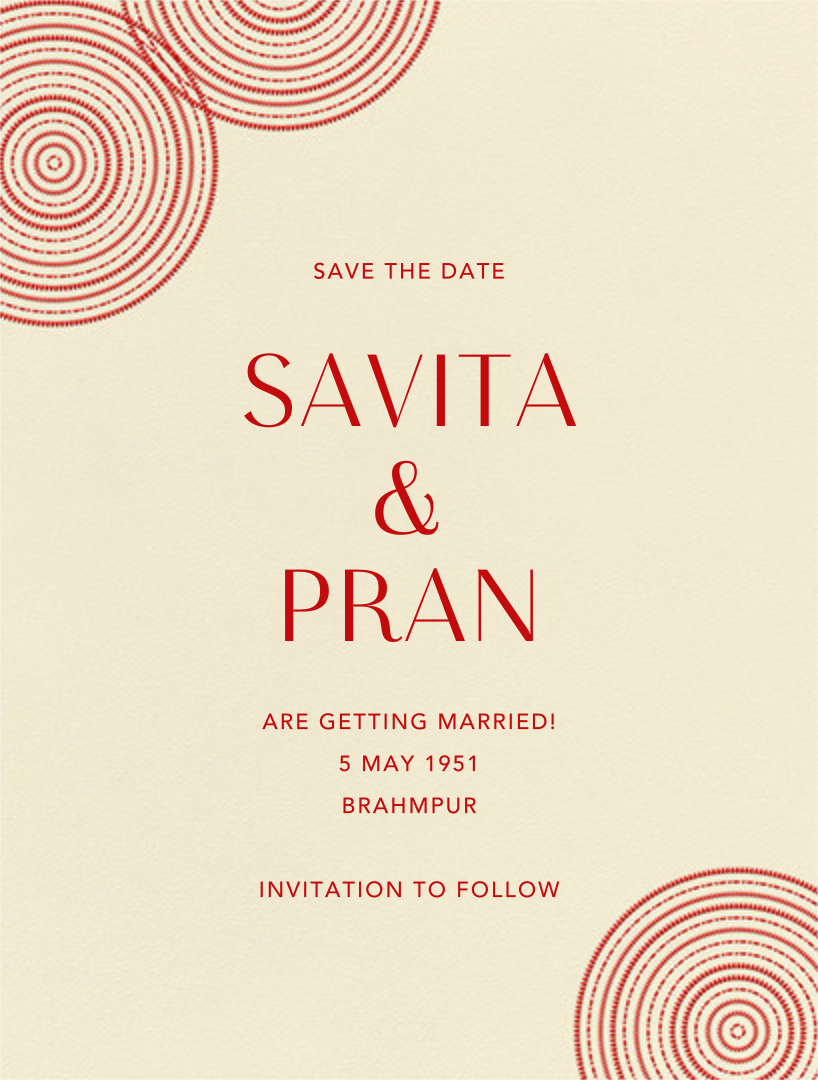 Ghera I (Save the Date) - Paperless Post - Save the date