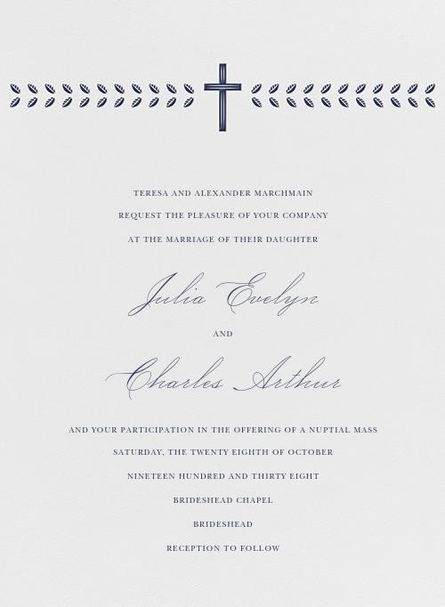 Lamina I (Invitation) - Navy - Paperless Post - All