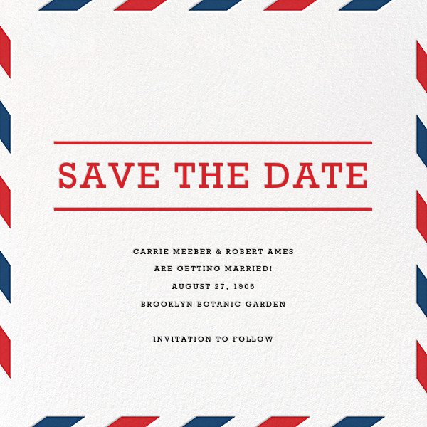 Par Avion (Save the Date) - Paperless Post - Party save the dates