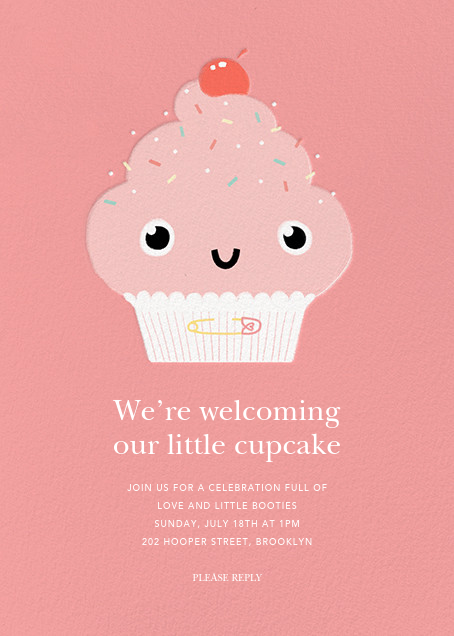 Our Little Cupcake - Pink - Paperless Post - Baby shower