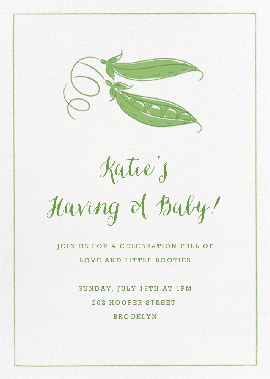Peas in a Pod - Paperless Post - Baby shower