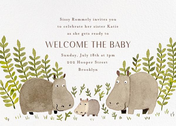 Happy Hippos - Paperless Post - Summer Favorites
