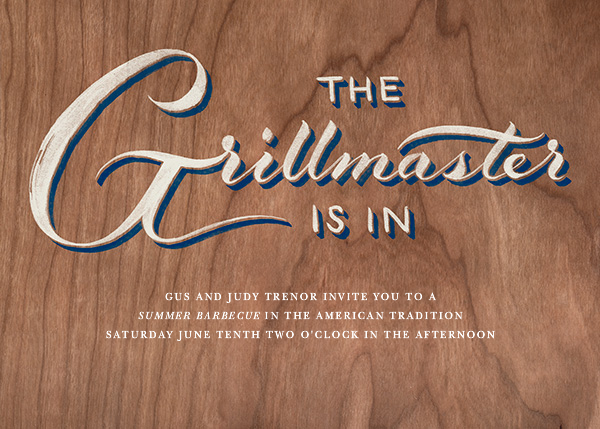 Grillmaster - Wood - Paperless Post - Canada Day