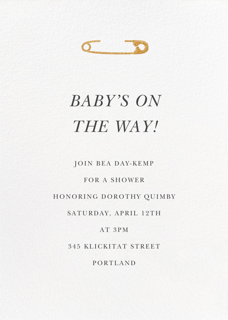 Safety First - Paperless Post - Baby shower