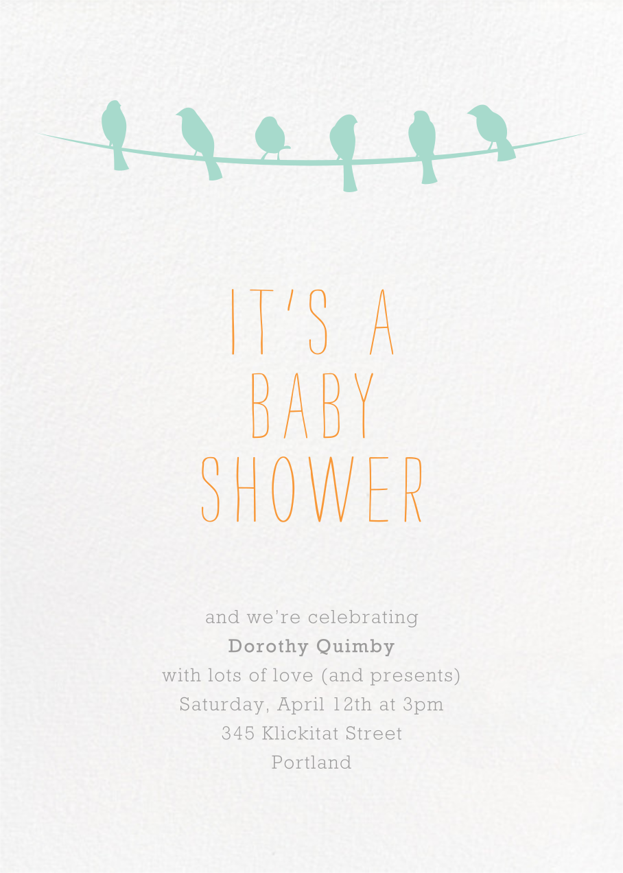 Talk of the Flock - Paperless Post - Baby shower