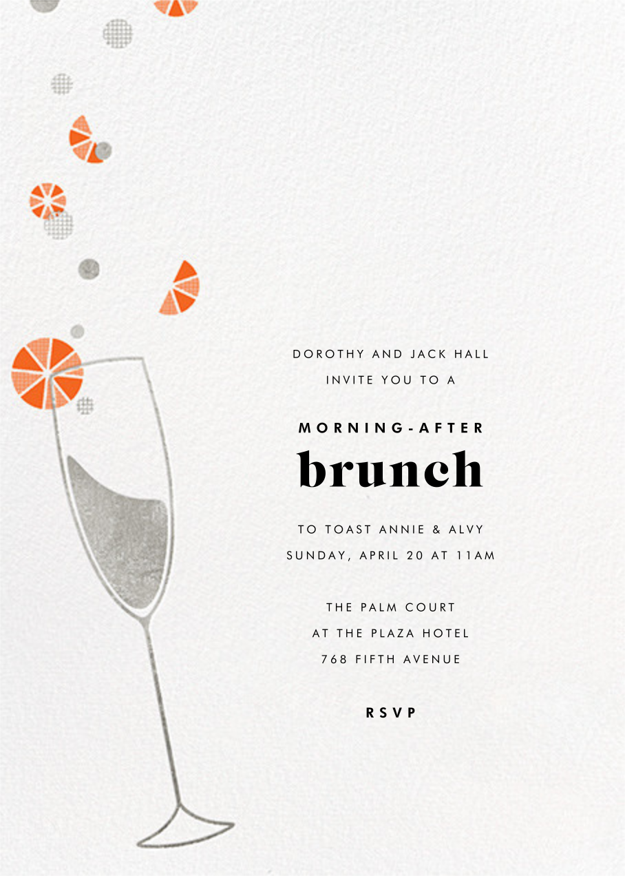 Citrus Fizz - Silver - Paperless Post - Wedding brunch
