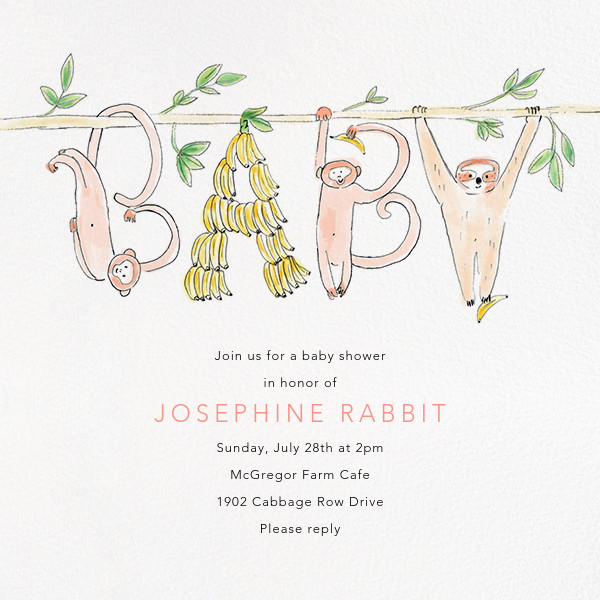 Just Hanging Out - Paperless Post - Baby shower