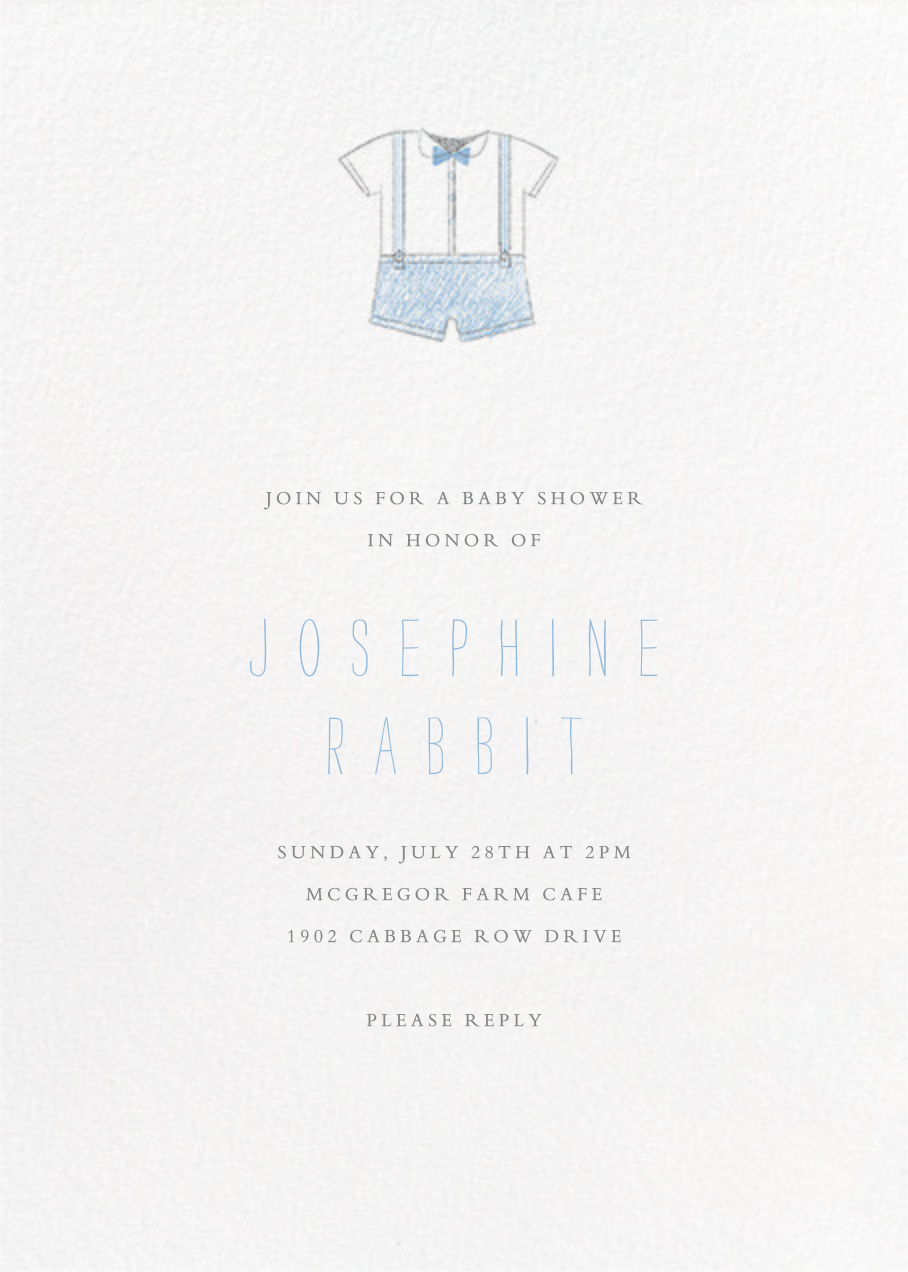 Baby Clothes - Blue - Paperless Post - Baby shower