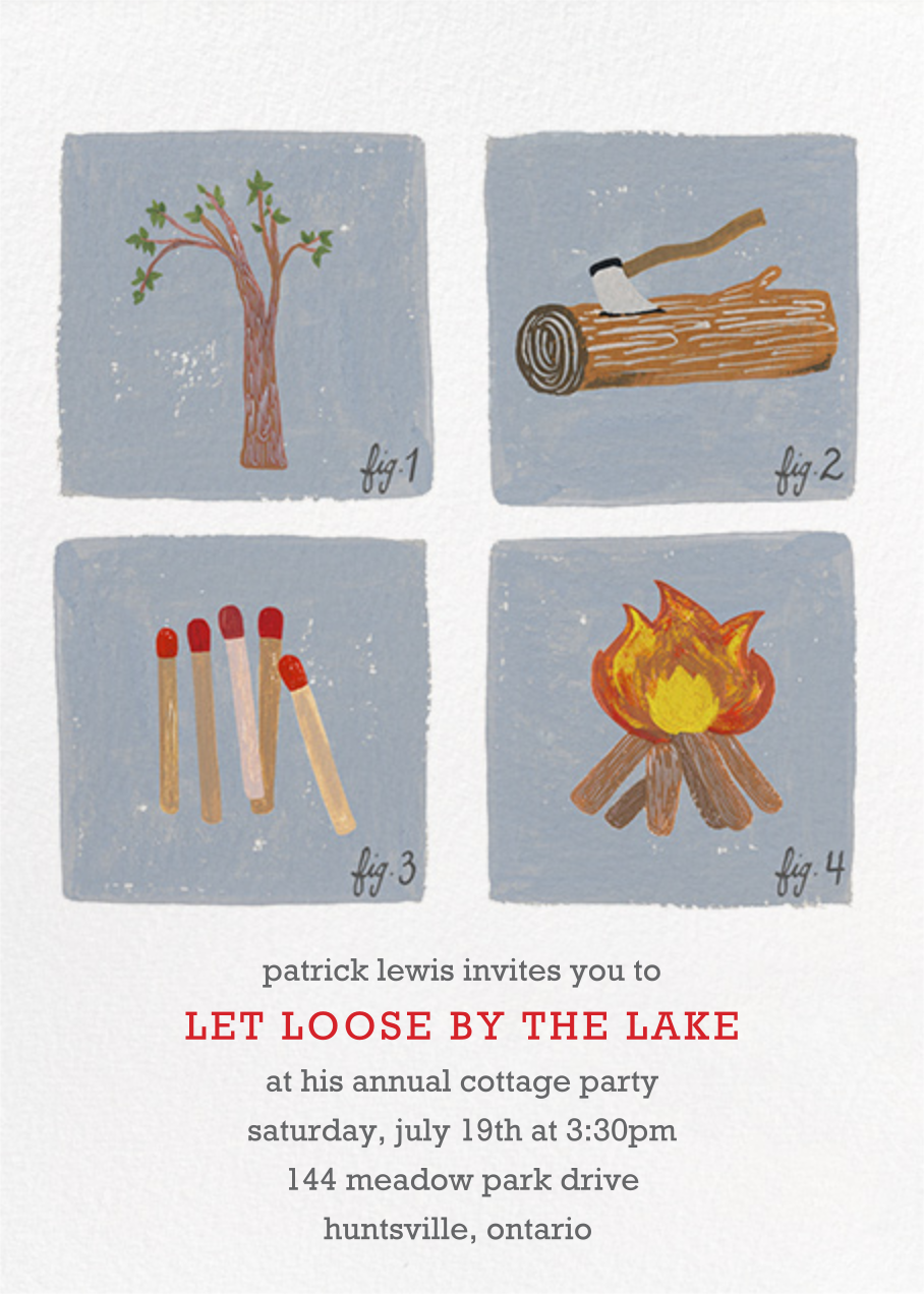How to Build a Fire Invitation - Paperless Post - Canada Day