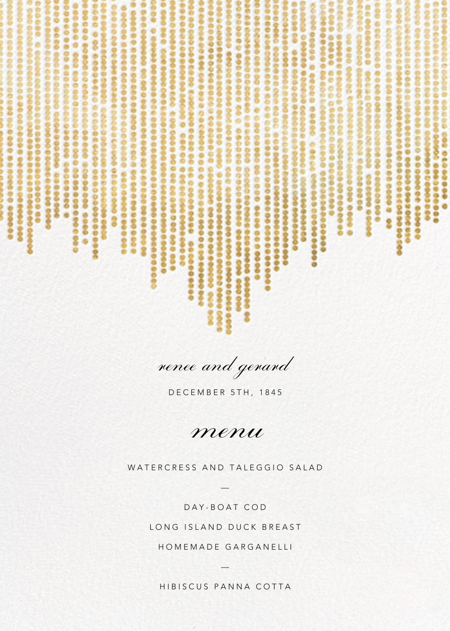 Josephine Baker (Menu) - White/Gold - Paperless Post - Menus
