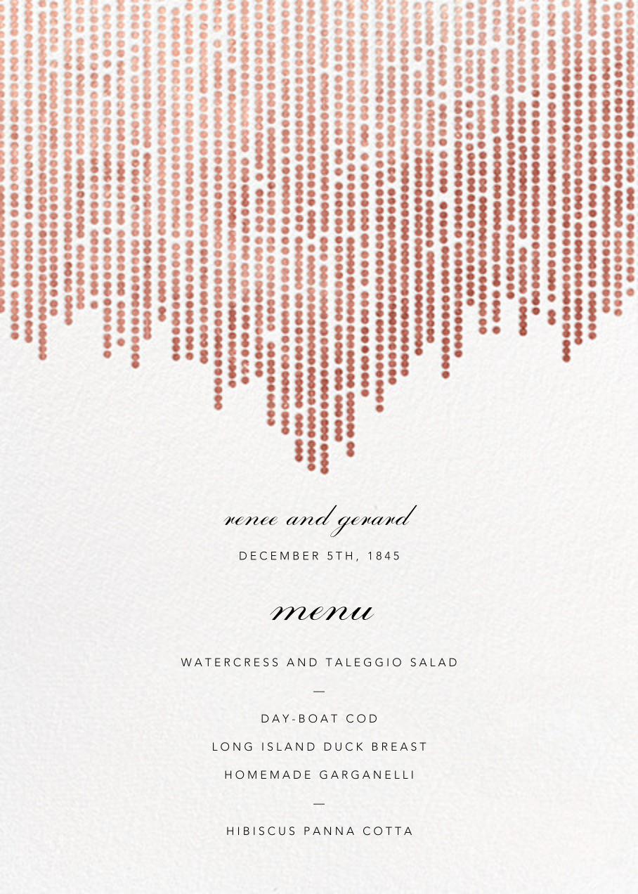 Josephine Baker (Menu) - White/Rose Gold - Paperless Post - Menus