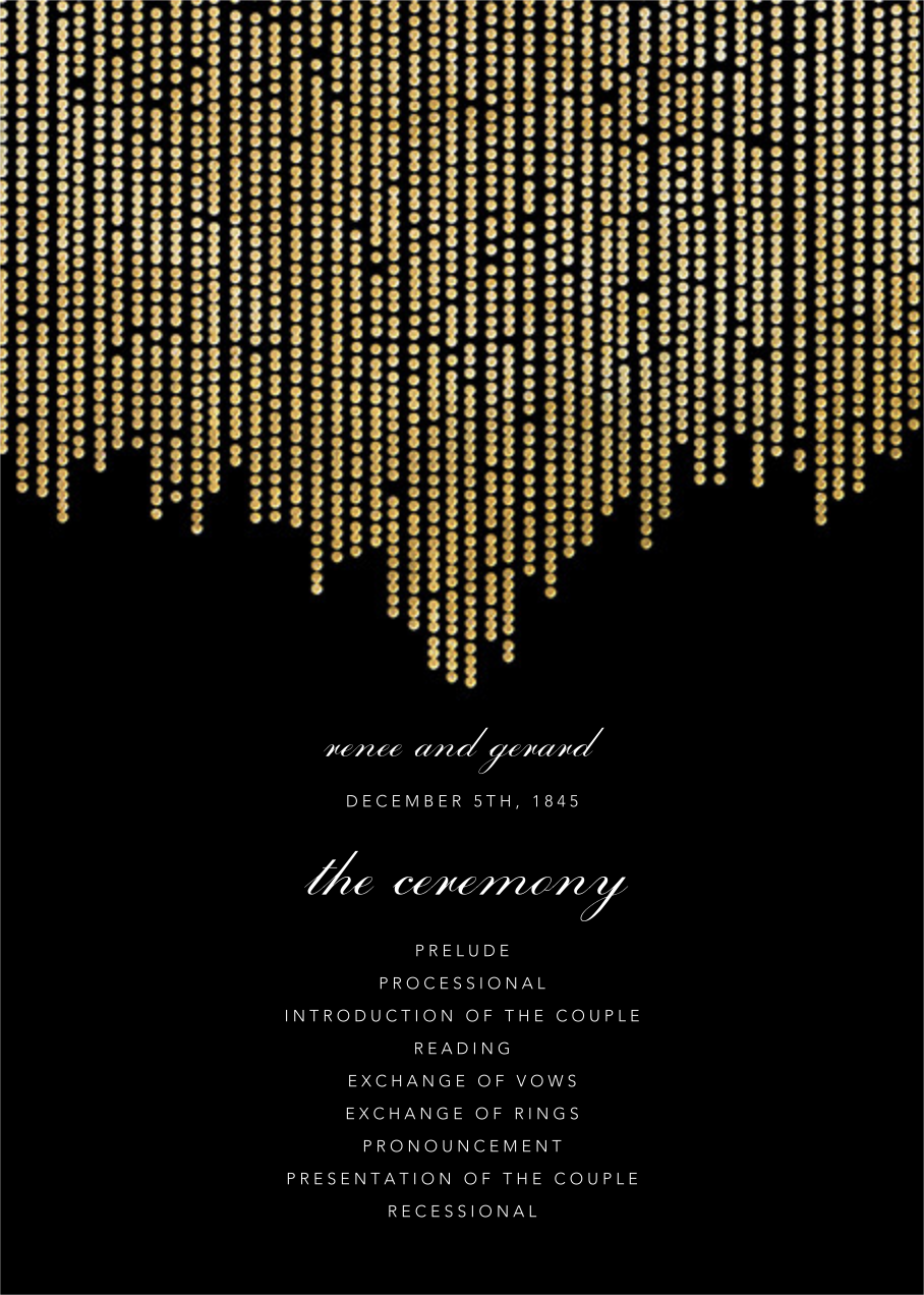 Josephine Baker (Program) - Black/Gold - Paperless Post - Menus and programs