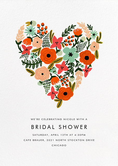 Heart of Plenty - Rifle Paper Co. - Bridal shower