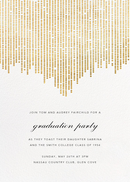 Josephine Baker - White/Gold - Paperless Post - Graduation party