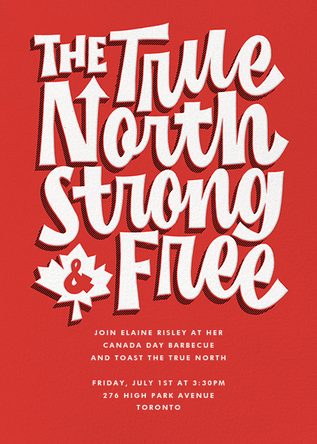 True North - Paperless Post - Canada Day