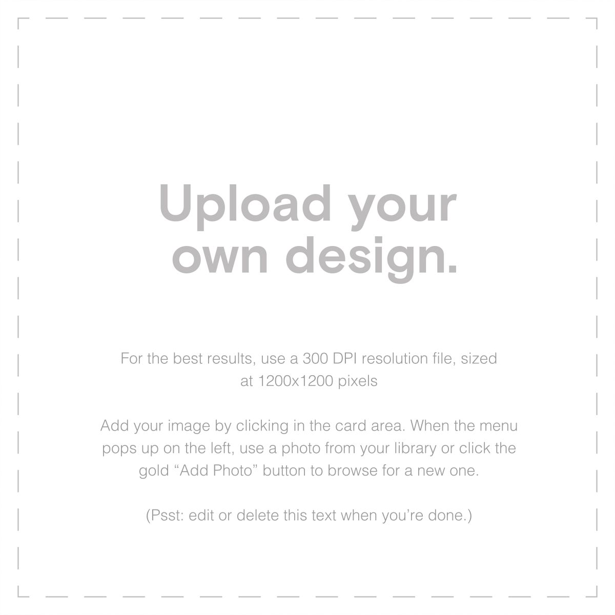 Custom (Two-Sided Square) - Paperless Post - Upload your own - card back