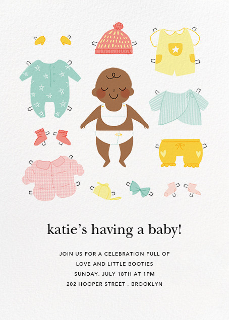 Diapered and Dapper - Mahogany - Paperless Post - Baby shower