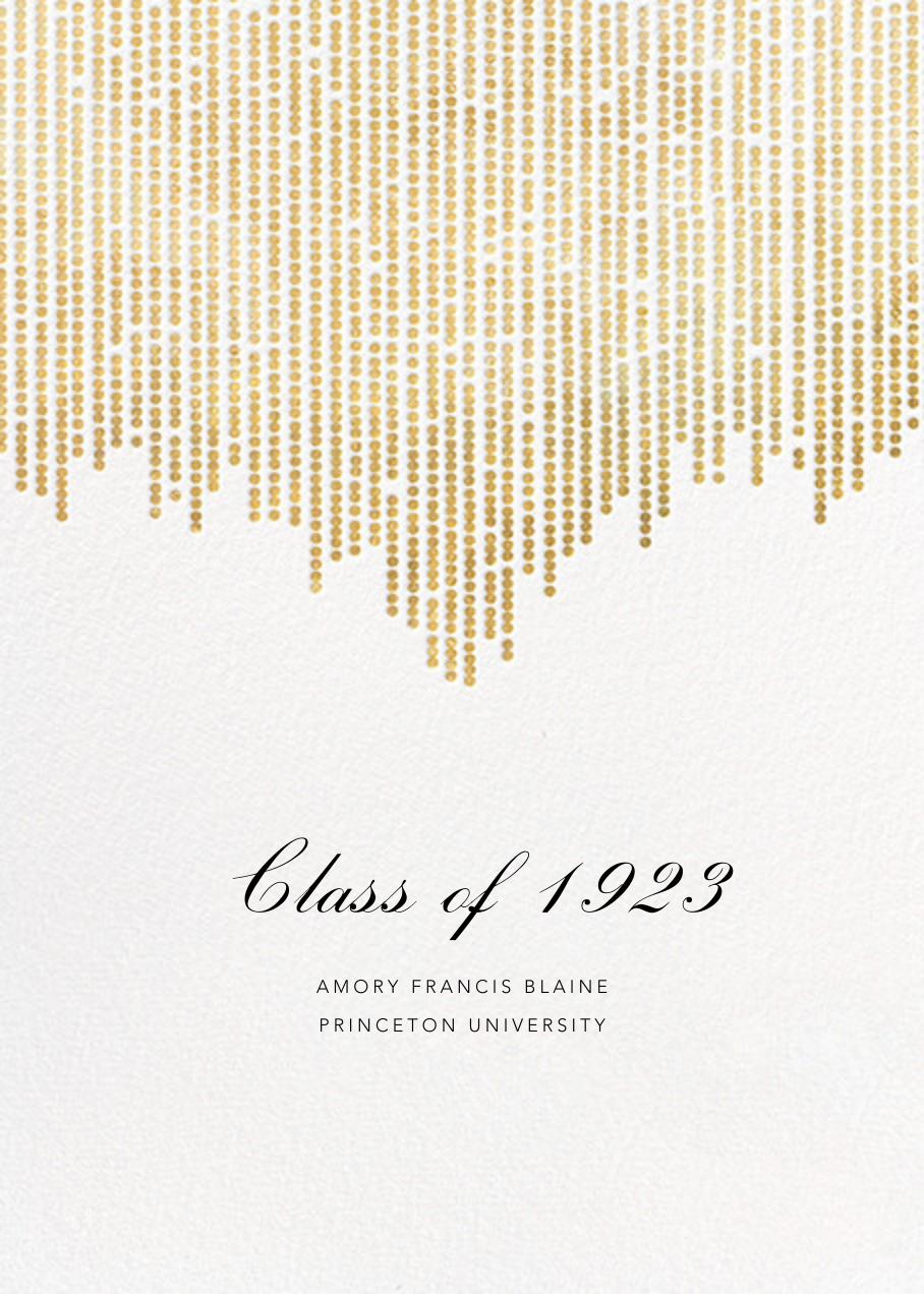 Josephine Baker - White/Gold - Paperless Post - Graduation