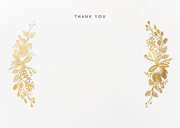 Floral Silhouette (Stationery) - Gold - Rifle Paper Co. - Wedding
