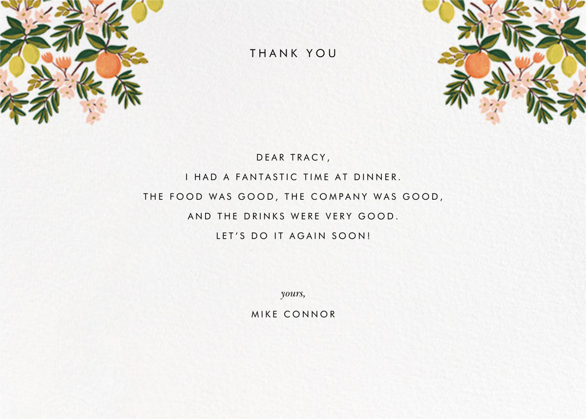 Citrus Orchard Suite (Thank You) - White - Rifle Paper Co. - General