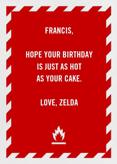 Fire Extinguisher - Birthday - Paperless Post - Birthday - card back