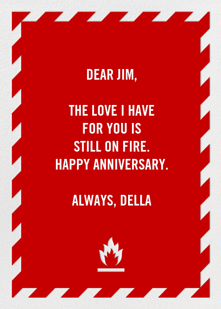 Fire Extinguisher - Anniversary - Paperless Post - Anniversary cards - card back