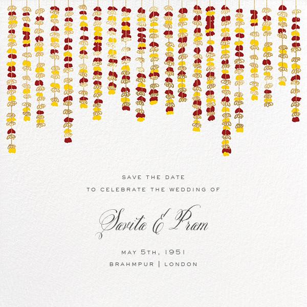 Under the Toran (Save the Date) - Crimson - Paperless Post